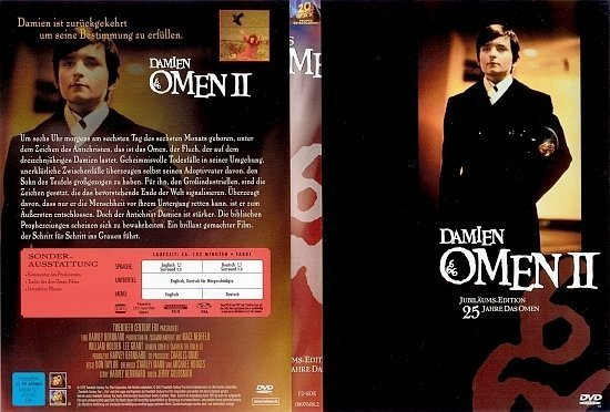 dvd cover Damien: Omen 2 (1978) R2 German