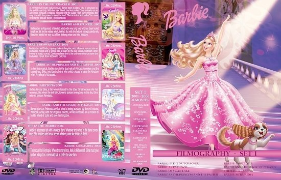 dvd cover Barbie Collection Set 1 3370 x 2175