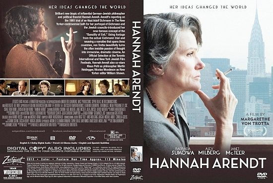 dvd cover Hannah Arendt
