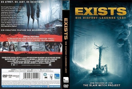 dvd cover Exists: Die Bigfoot Legende lebt R2 GERMAN