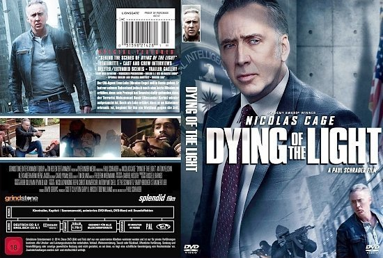 dvd cover Dying of the Light R2 GERMAN
