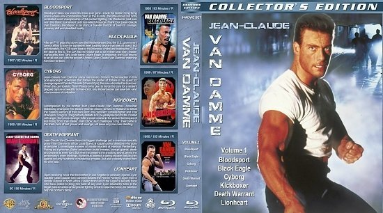 dvd cover Jean Claude Van Damme Collection Volume 1