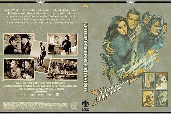 dvd cover Geheimaktion Crossbow (1965) R2 German