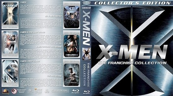 dvd cover X Men: The Franchise Collection version 1
