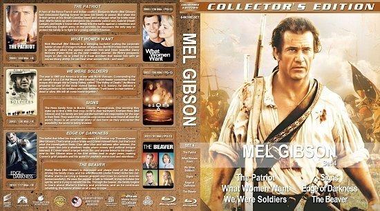 dvd cover Mel Gibson Collection Set 4