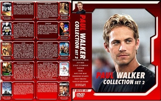 dvd cover Paul Walker Collection