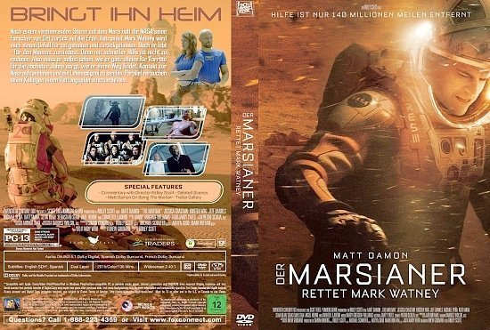 dvd cover Der Marsianer: Rettet Mark Watney Custom GERMAN