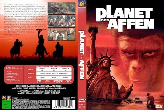 dvd cover Planet der Affen (1968) R2 German