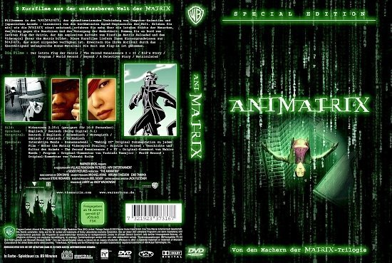 dvd cover Animatrix (2003) R2 German