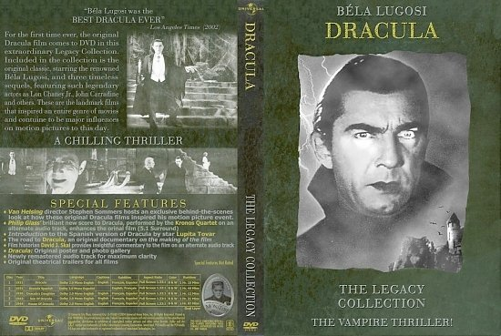 dvd cover Dracula Legacy Collection