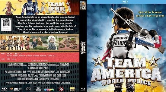 dvd cover Team America World Police