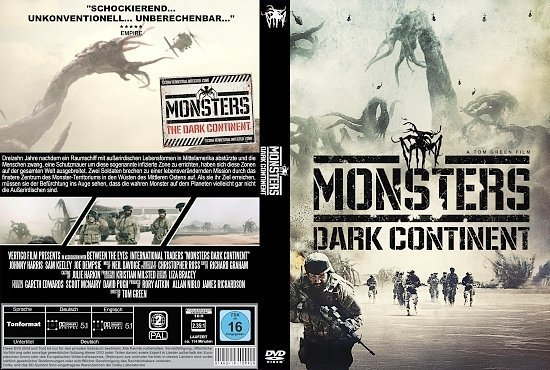 dvd cover Monsters Dark Continent R2 GERMAN