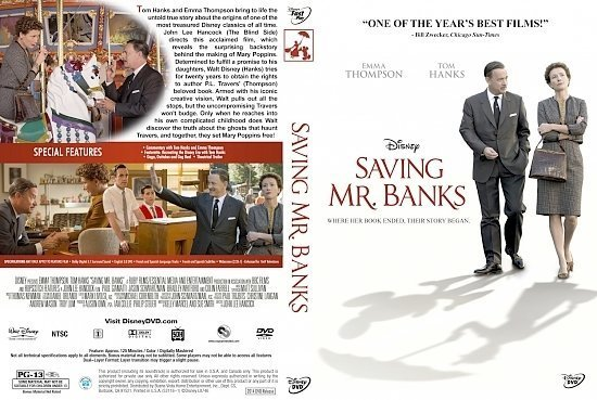 dvd cover Saving Mr. Banks