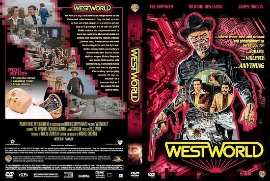 dvd cover Westworld