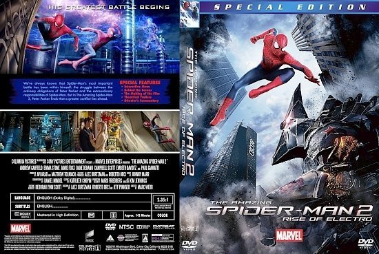 dvd cover The Amazing Spider Man 2