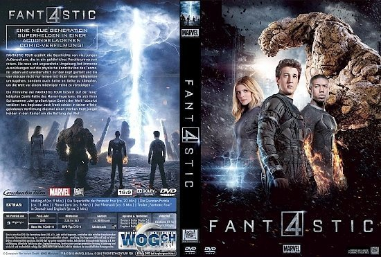 dvd cover Fantastic Four R2 GERMAN