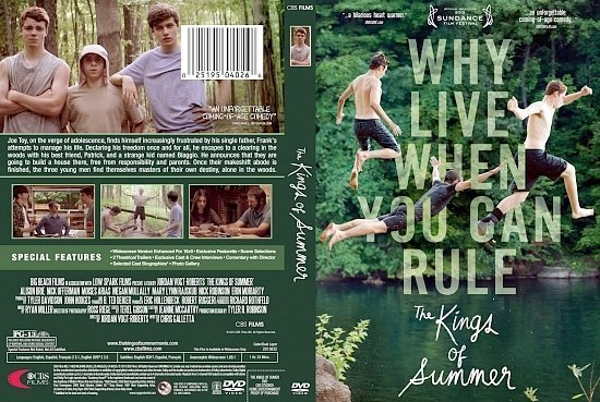 dvd cover The Kings Of Summer