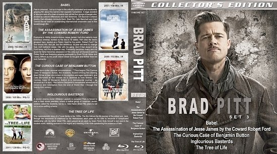 dvd cover Brad Pitt Collection Set 3