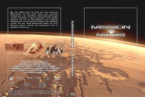 dvd cover Mission to Mars (2000) R2 German