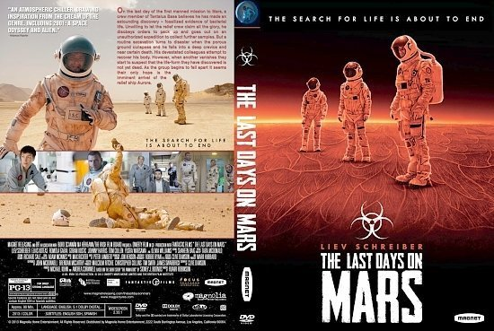 dvd cover The Last Days On Mars