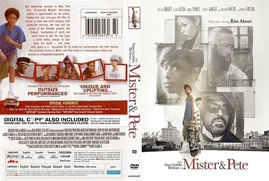 dvd cover The Inevitable Defeat Of Mister Pete