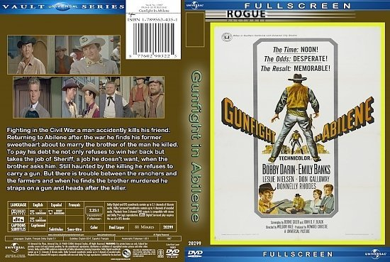dvd cover Gunfight In Abilene (1967) R1