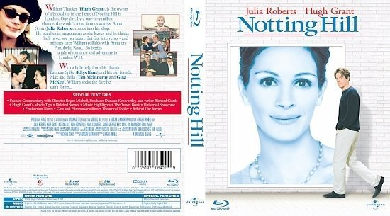 dvd cover Notting Hill