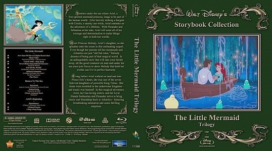 dvd cover The Little Mermaid Trilogy