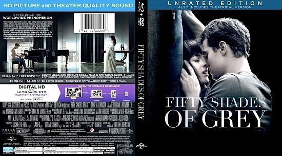 dvd cover Fifty Shades Of Grey Blu-Ray Cover