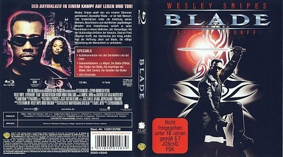dvd cover Blade (1998) Blu-Ray German
