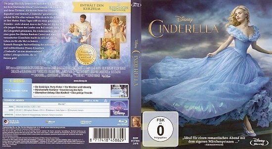 dvd cover Cinderella Blu-Ray German