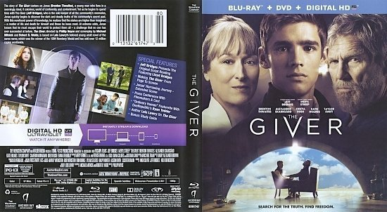 dvd cover The Giver R1 Blu-Ray