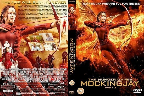 dvd cover The Hunger Games - Mockingjay - Part 2 R1 Custom