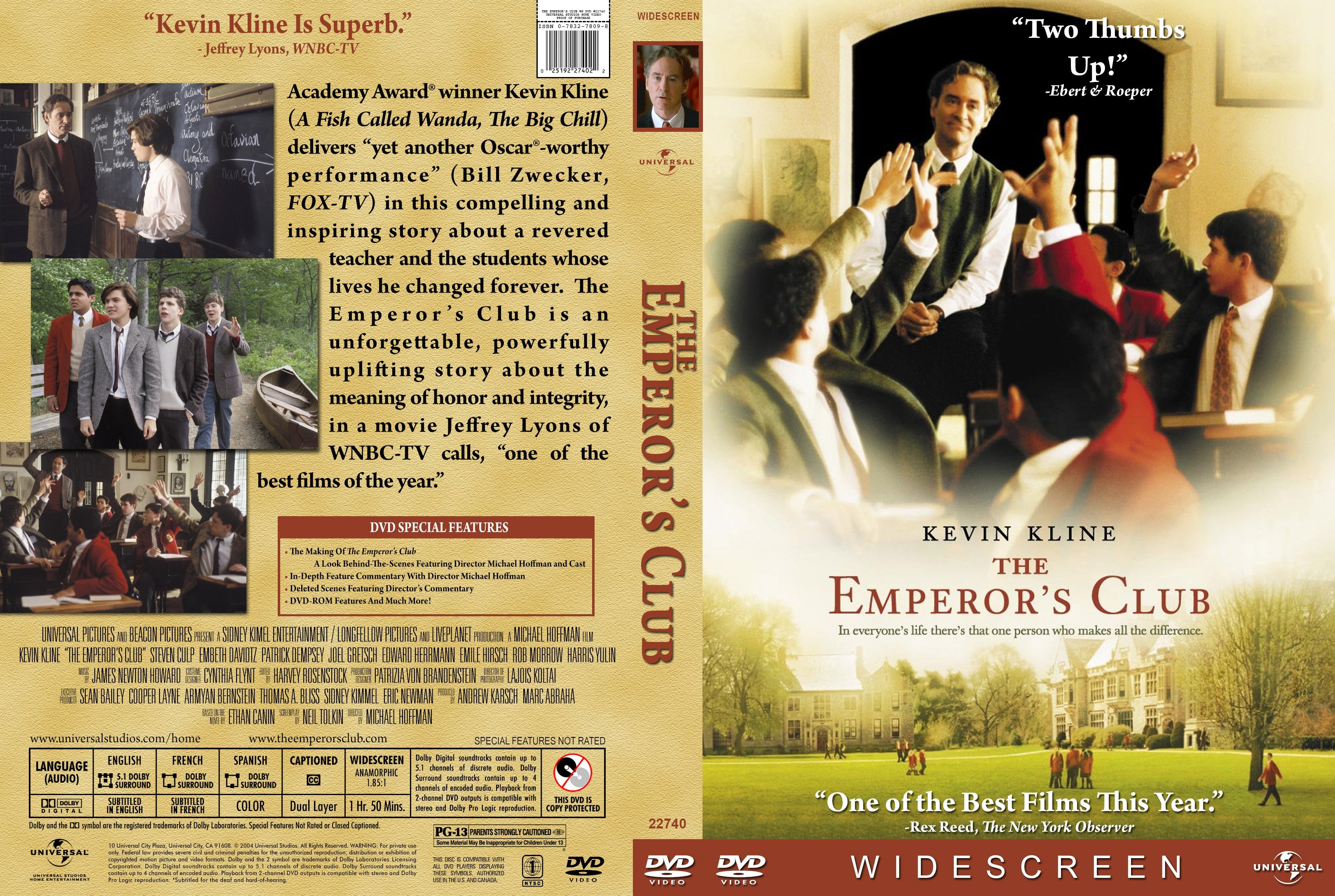 the emperors club The emperor's club is a film that addresses many moral and social aspects that are central to contemporary society's moral controversy can morals be properly instilled in a young person outside of religion.