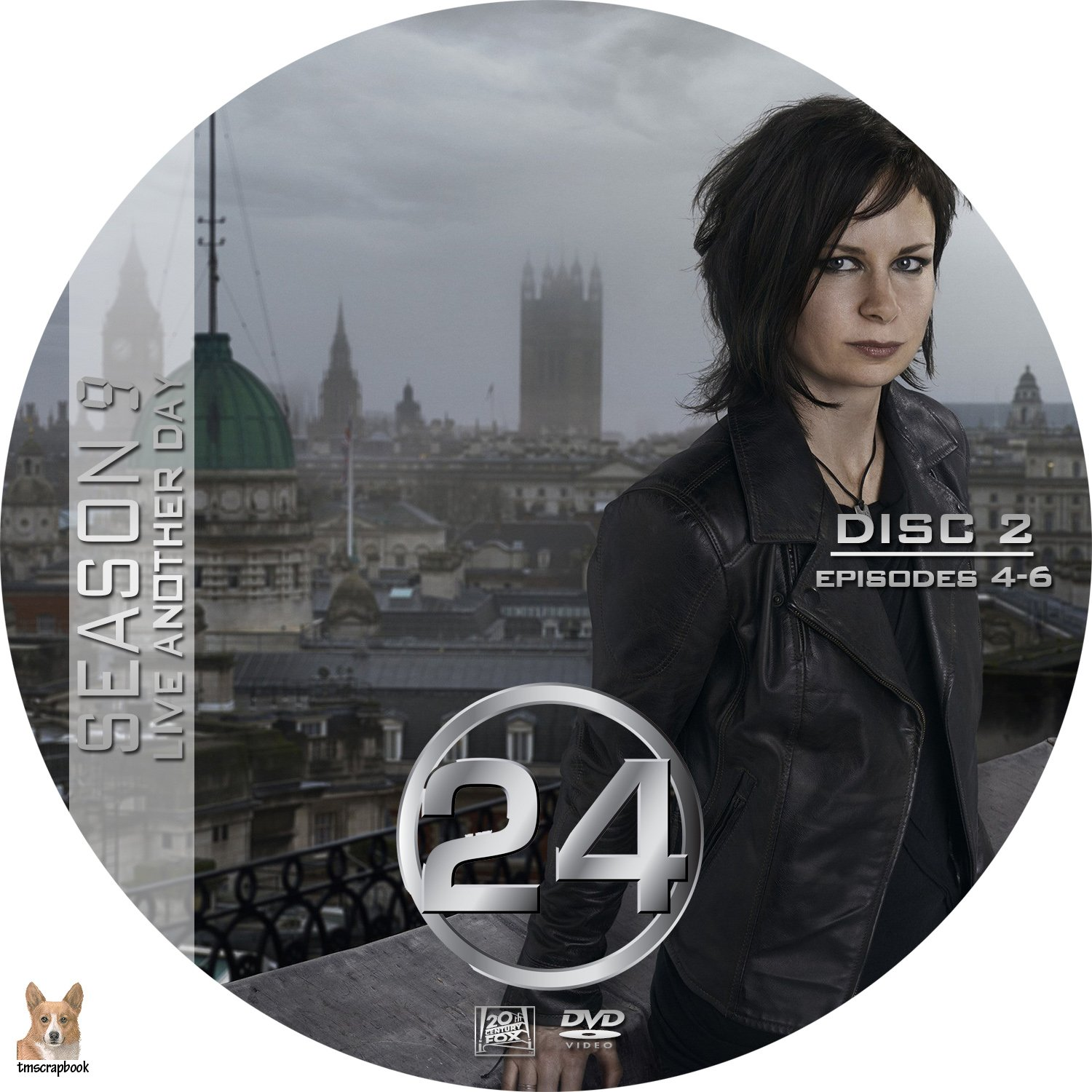 24 – Season 9 (Live Another Day) R1 Custom Cover & labels
