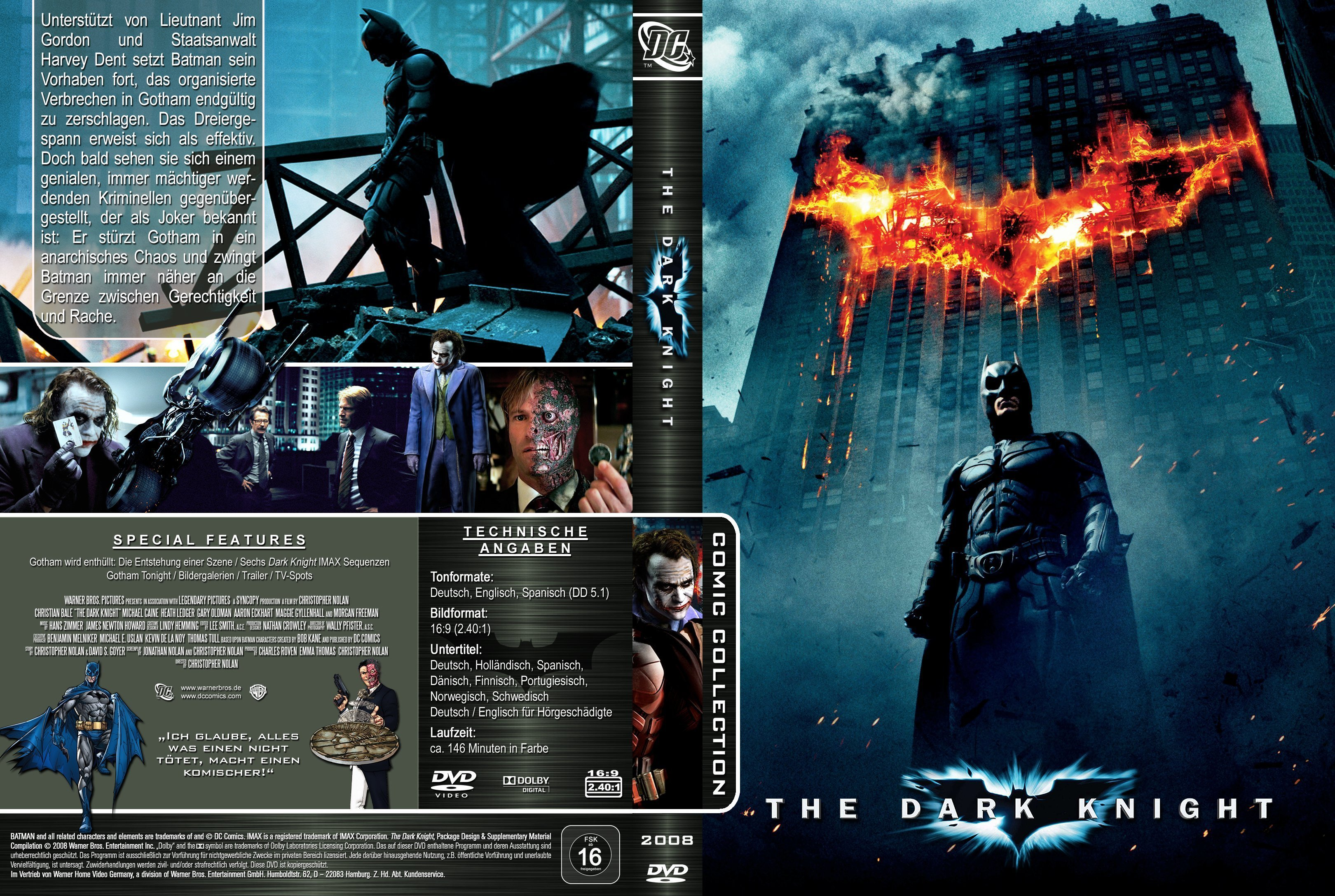 The Dark Knight 2008 R2 German Cover Dvd Covers And Labels
