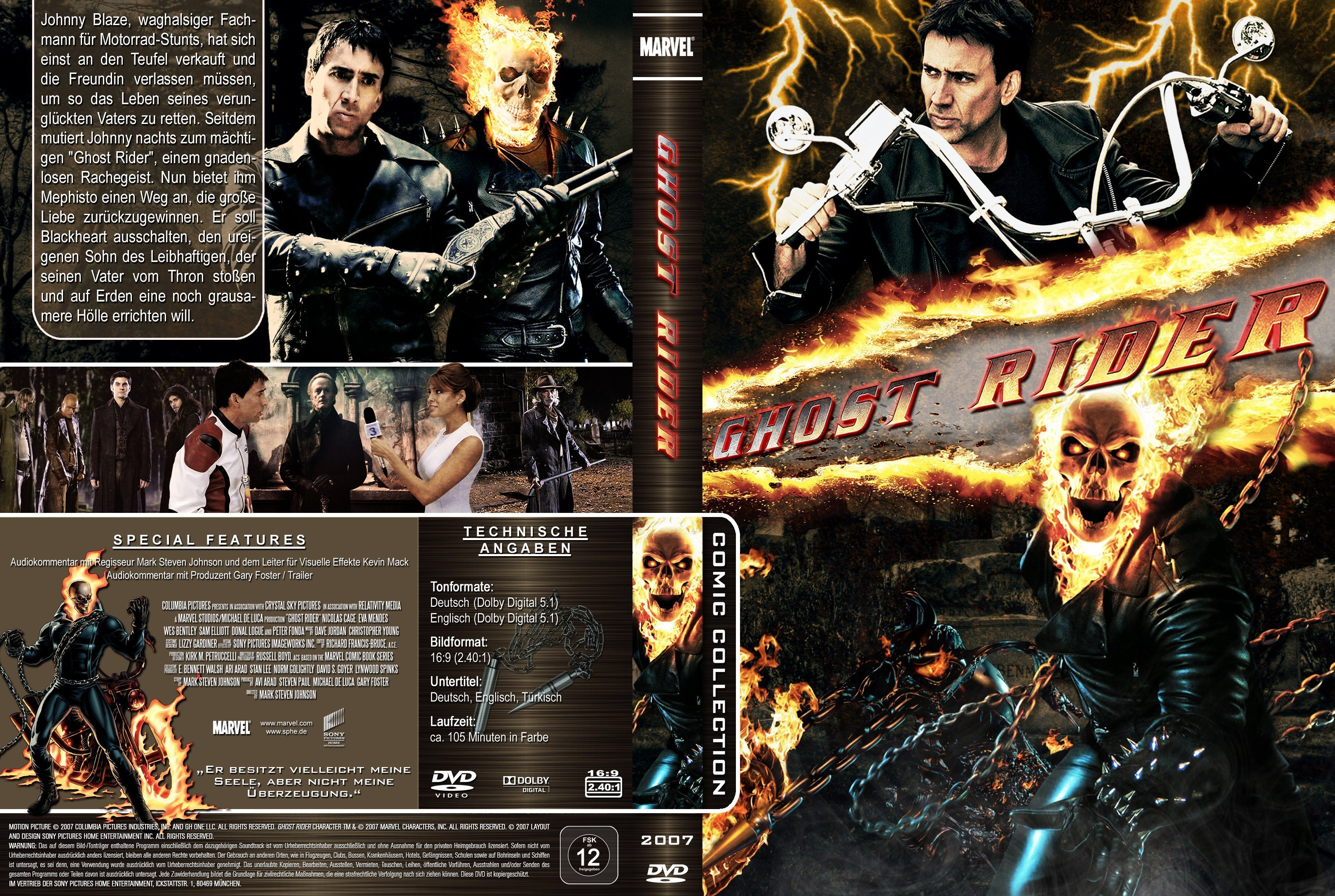 Ghost Rider (2007) R2 German Cover   Dvd Covers and Labels