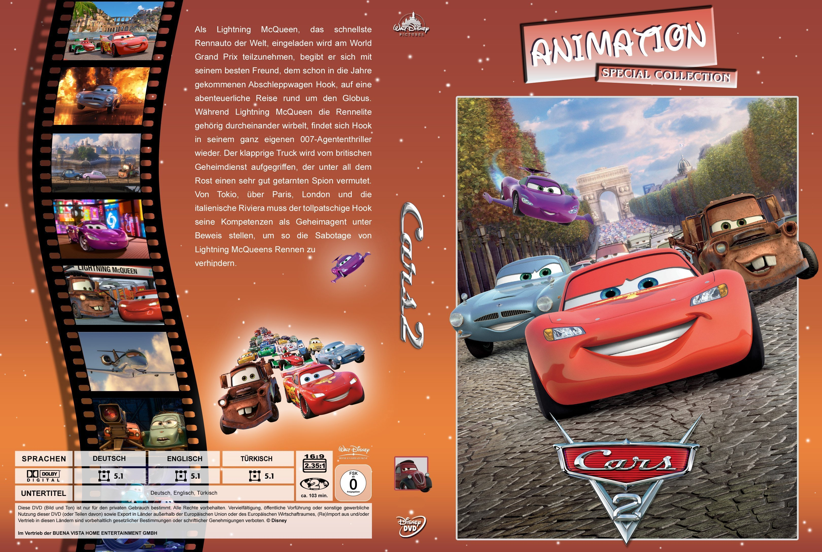 Cars 2 2011 R2 German Cover Dvd Covers And Labels