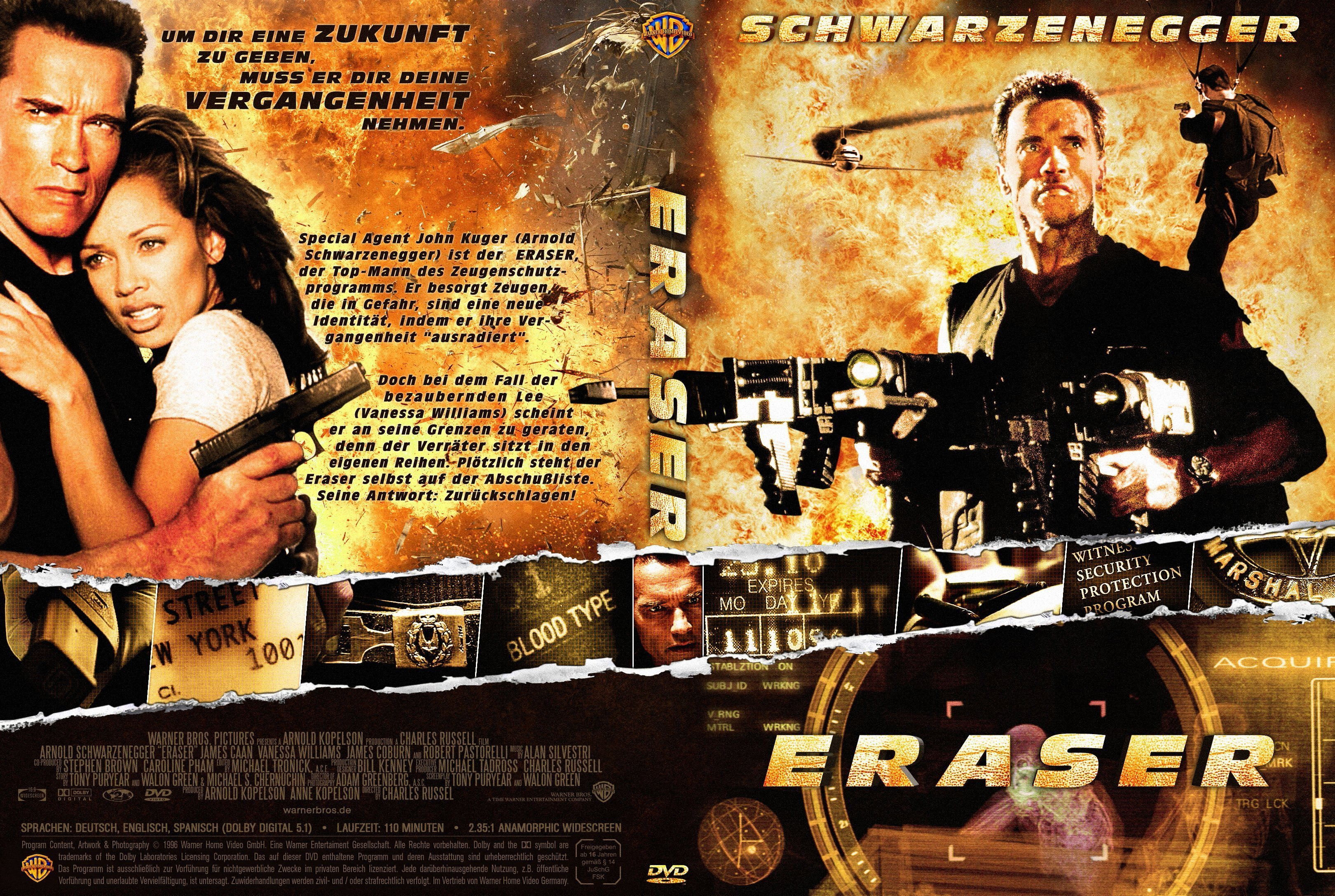 Eraser 1996 R2 German Cover Dvd Covers And Labels