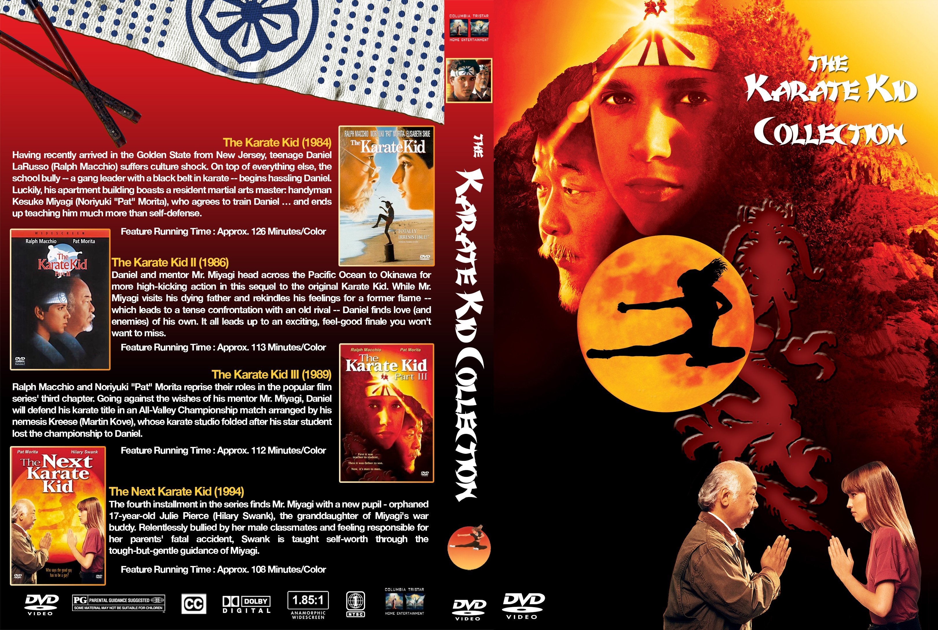 The Karate Kid Collection Custom Covers Dvd