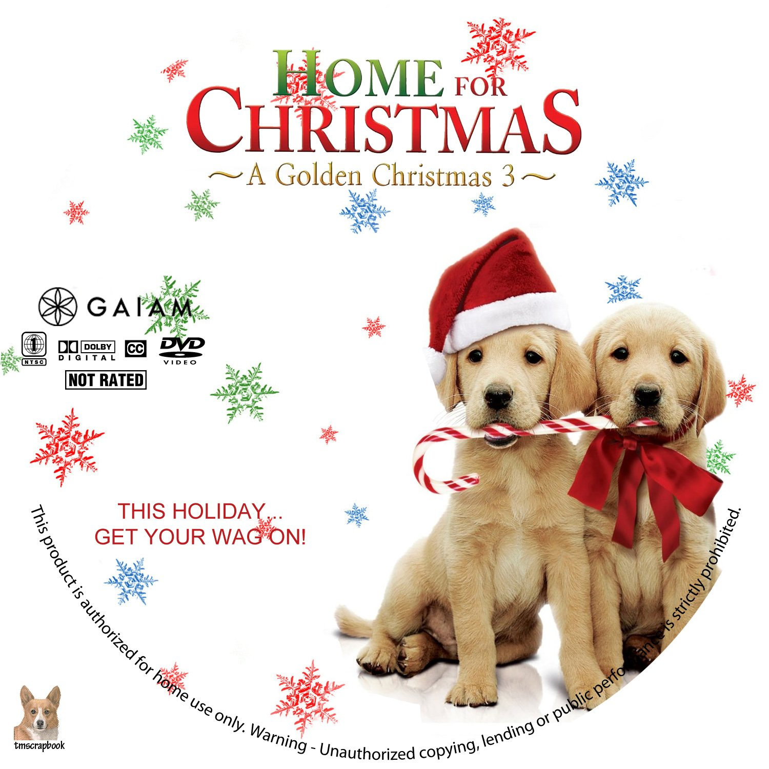home for christmas a golden christmas 3 r1 custom label - Golden Christmas 3