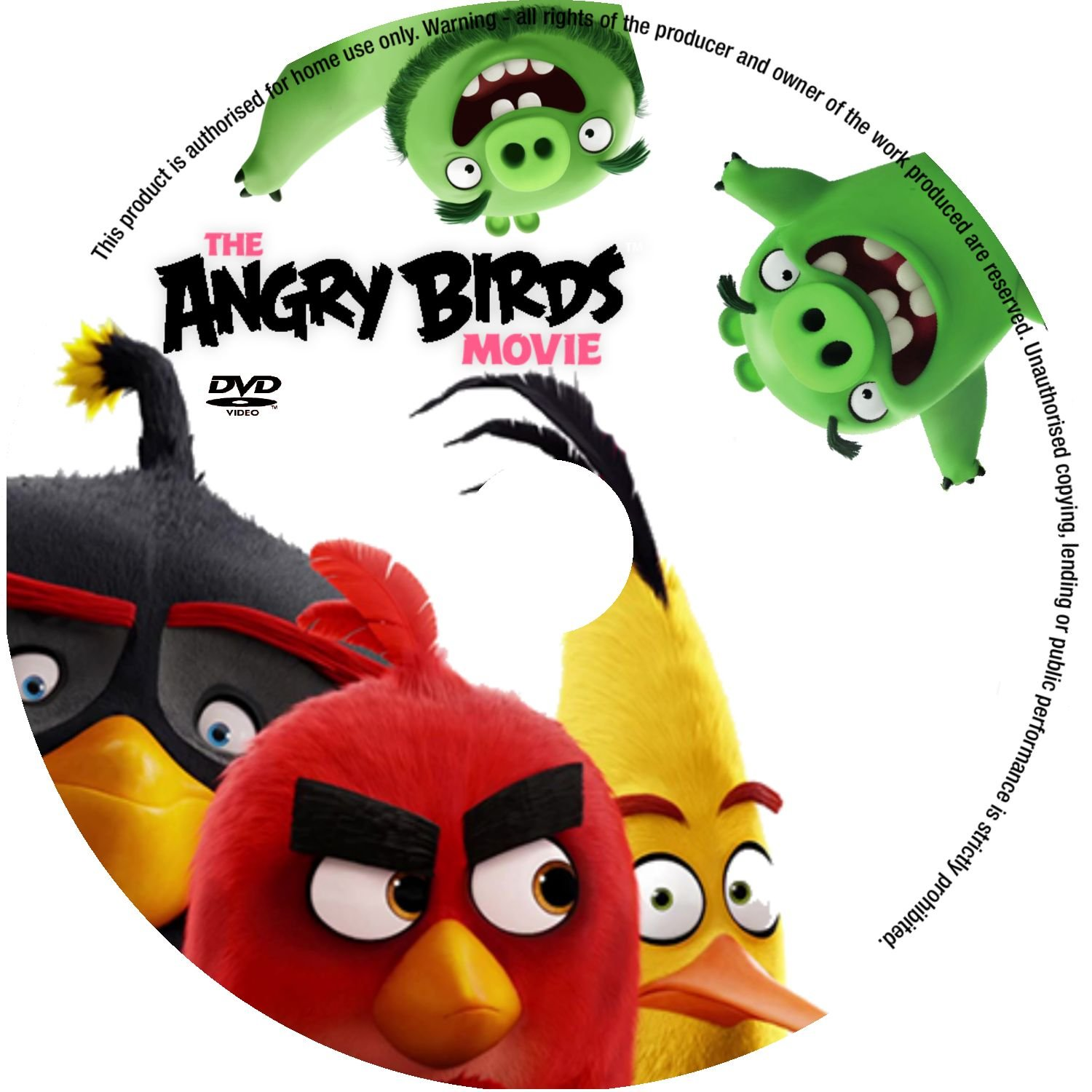 The Angry Birds Movie 2016 R0 Custom Label Dvd Covers And Labels