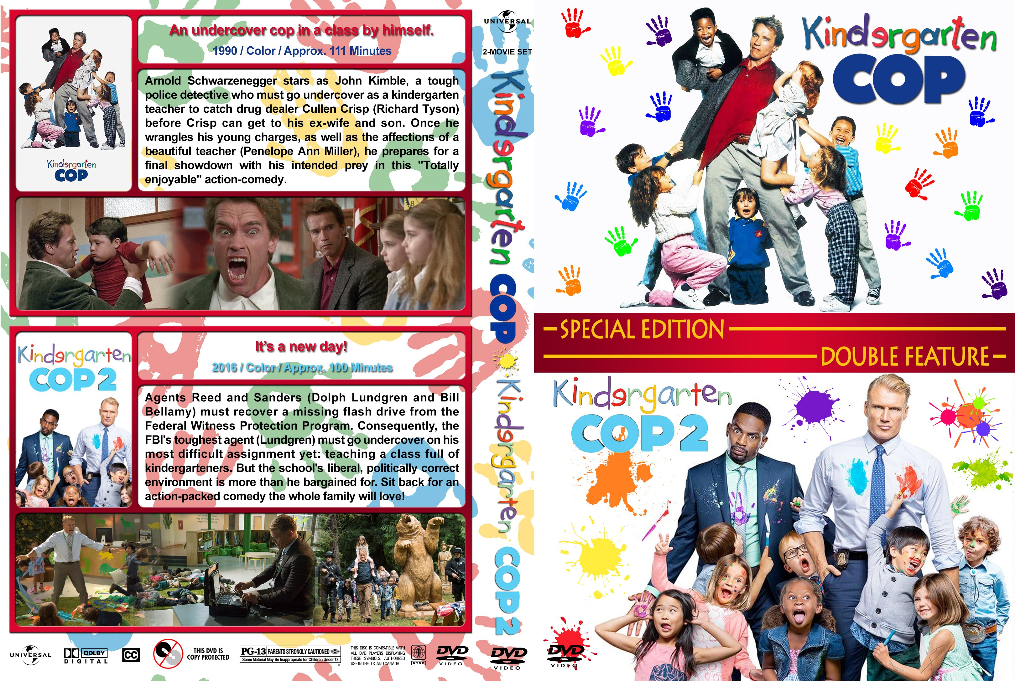 Kindergarten Cop Double Feature 1990 2016 Covers Dvd Covers And Labels