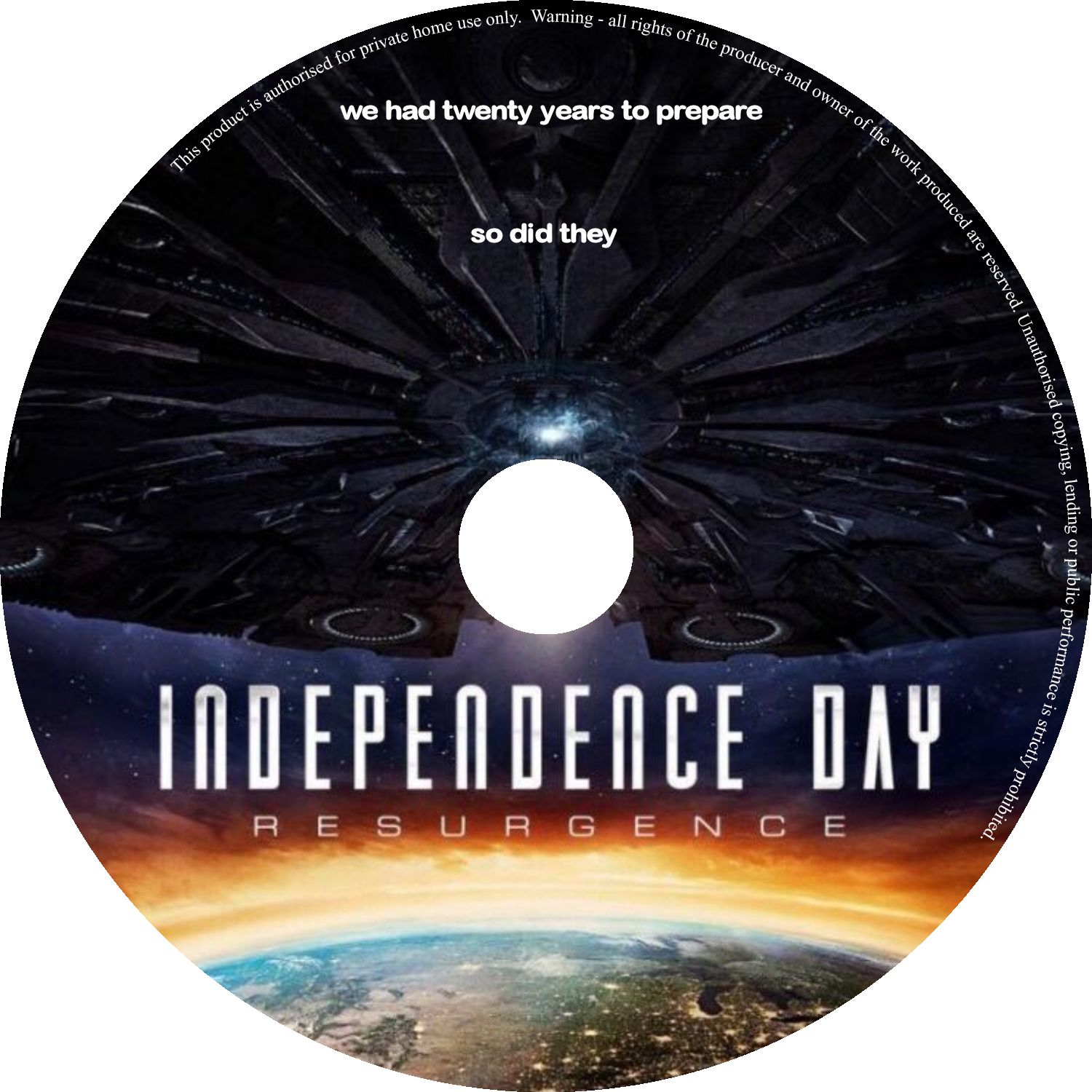 Independence Day Resurgence 2016 R0 Custom Cover Label Dvd Covers And Labels