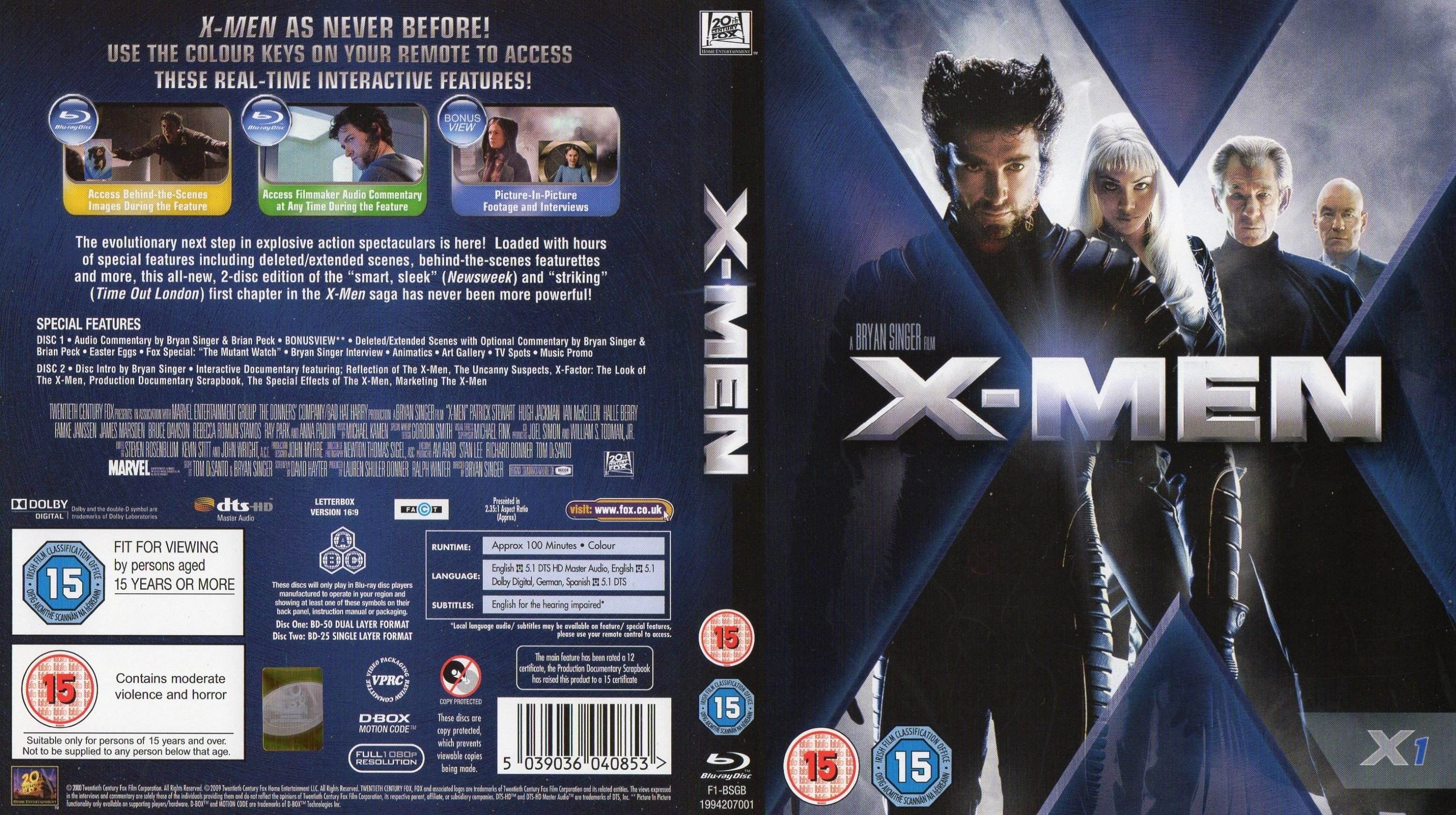 X Men 2000 Blu Ray Cover Dvd Covers And Labels