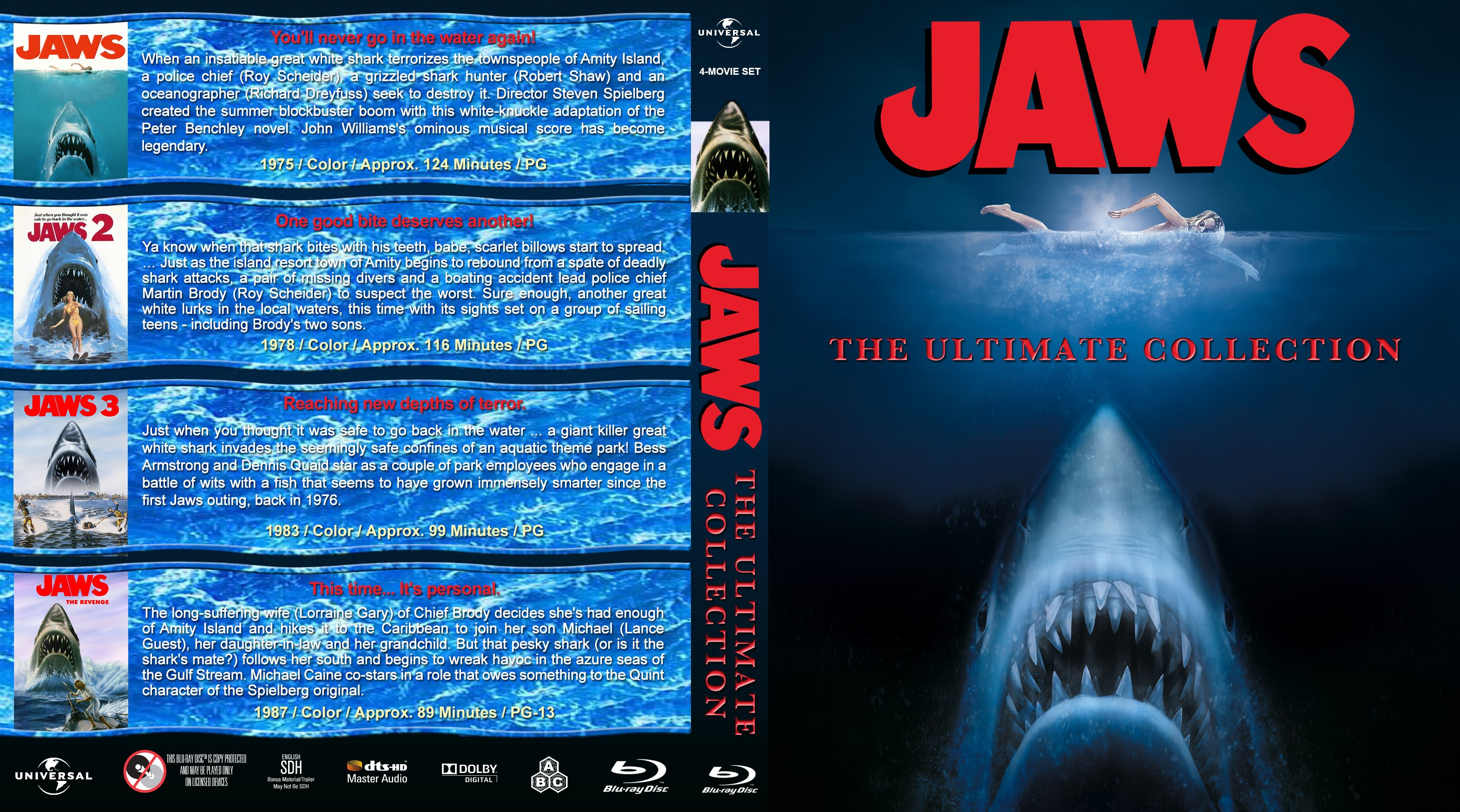 Jaws: The Ultimate Collection (1975-1987) R1 Custom Blu