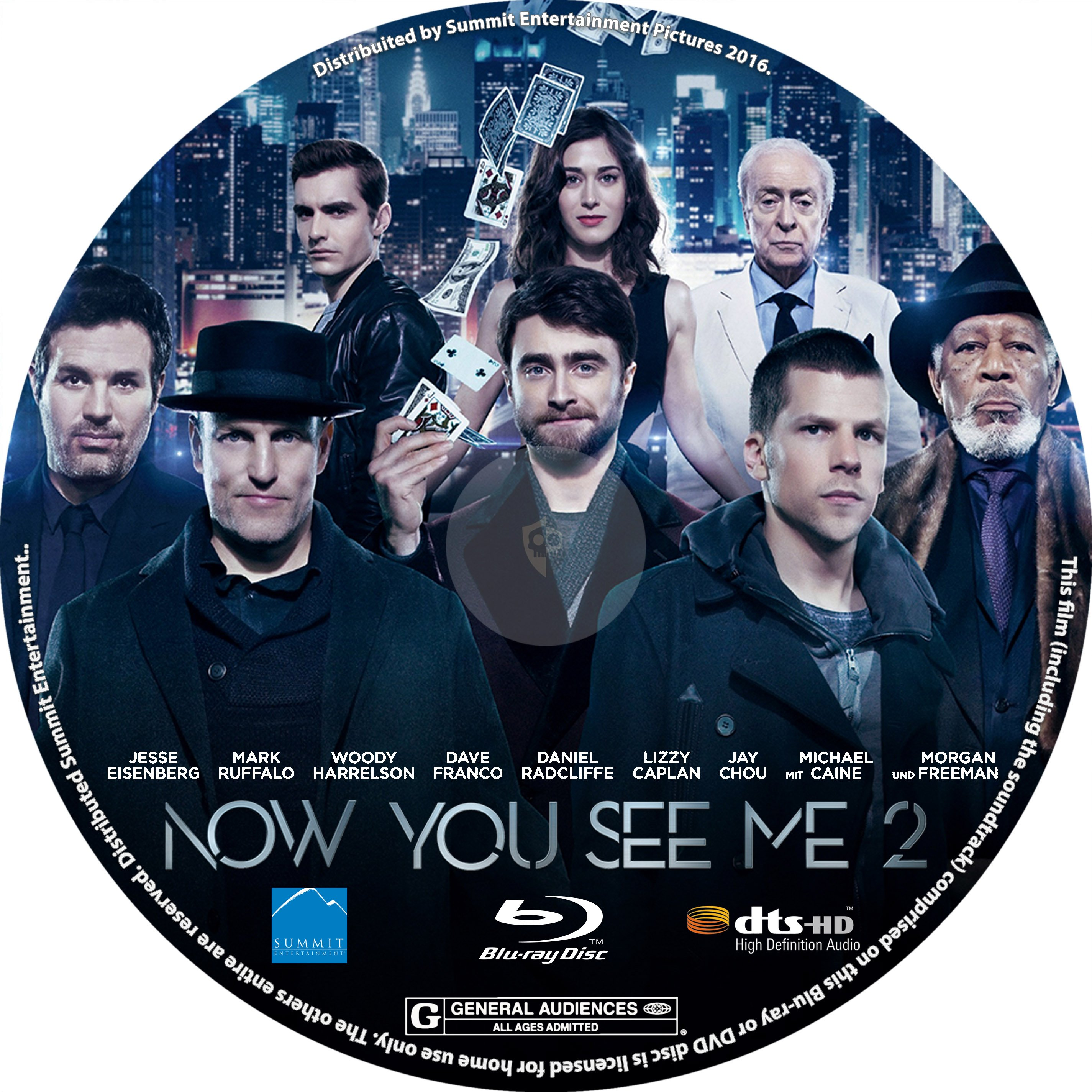 Now You See Me 2 2016 R1 Blu Ray Label Dvd Covers And Labels