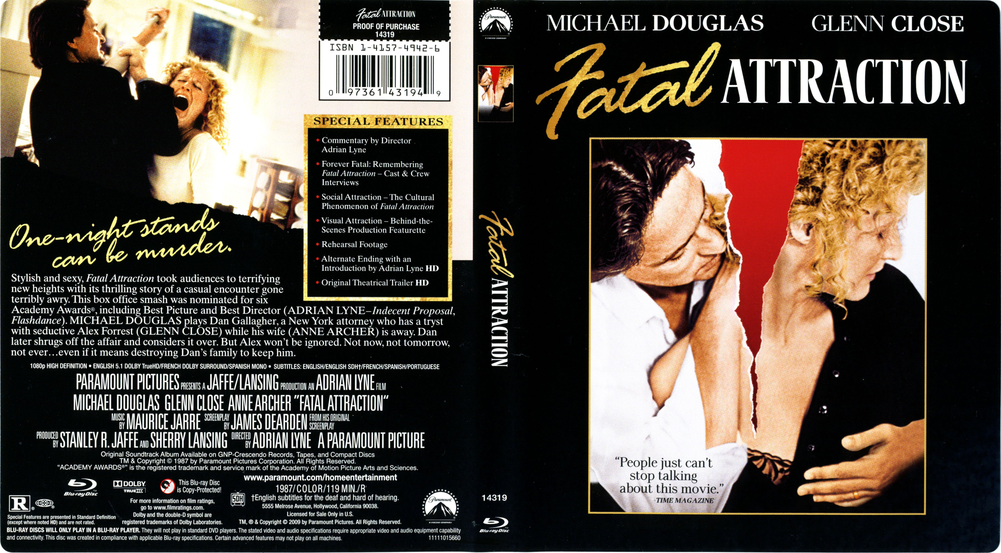 Fatal Attraction (1987) Blu-Ray Cover & Label | Dvd Covers