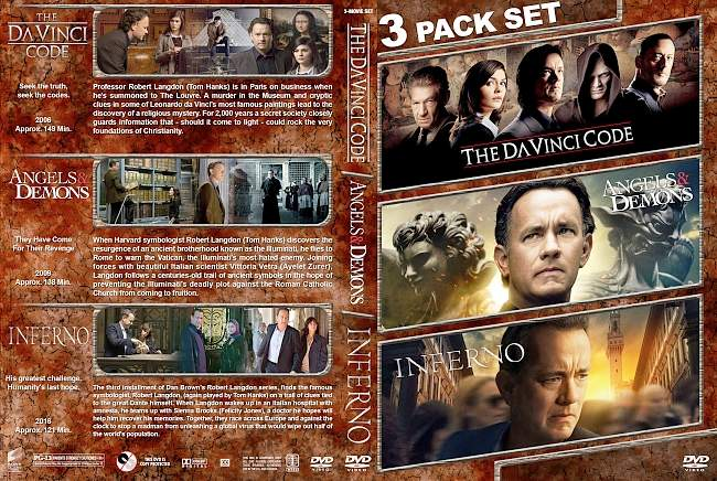 The DaVinci Code Angels Demons Inferno 2006 2016 Triple Covers