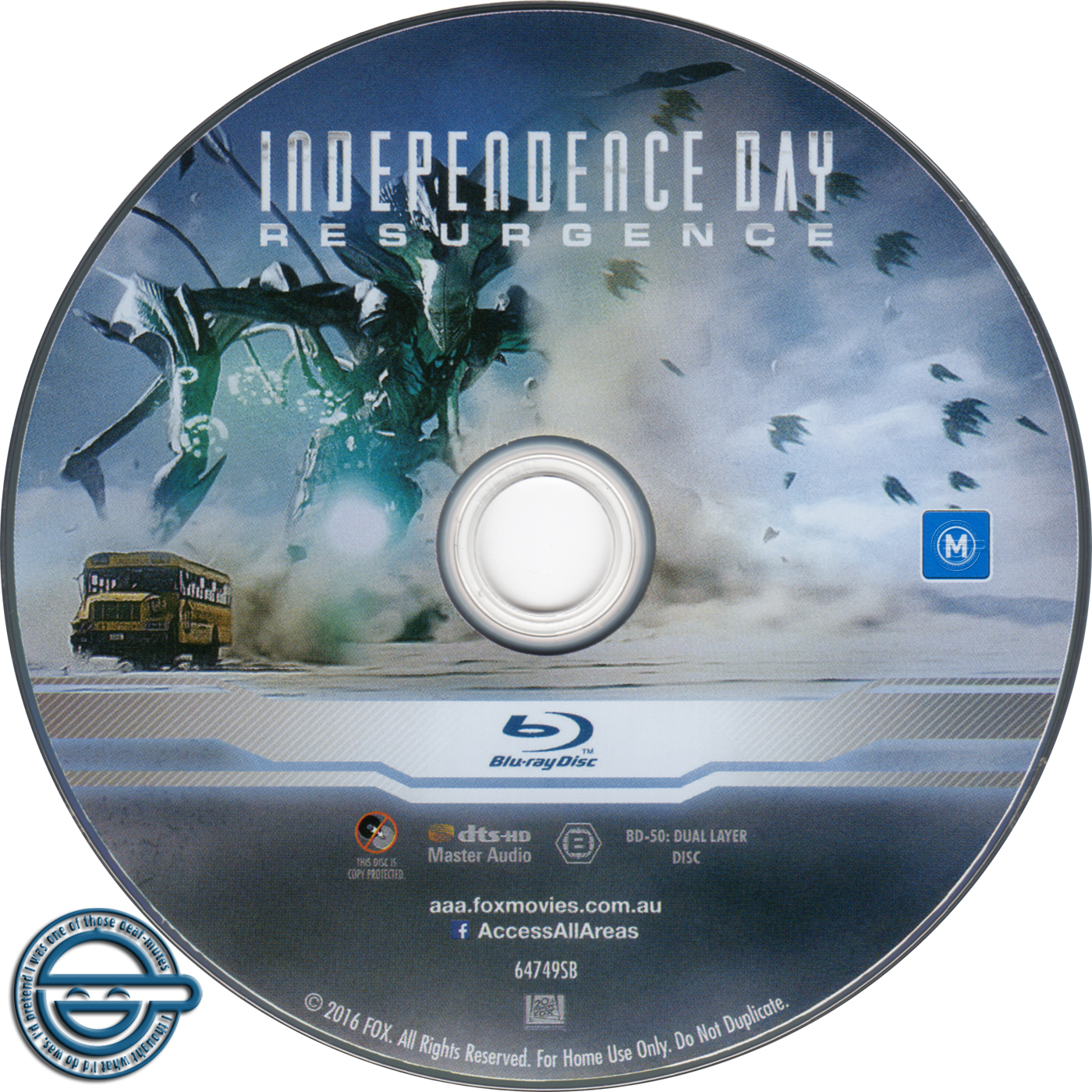 Independence Day Resurgence 2016 R4 Blu Ray Label Dvd Covers And Labels